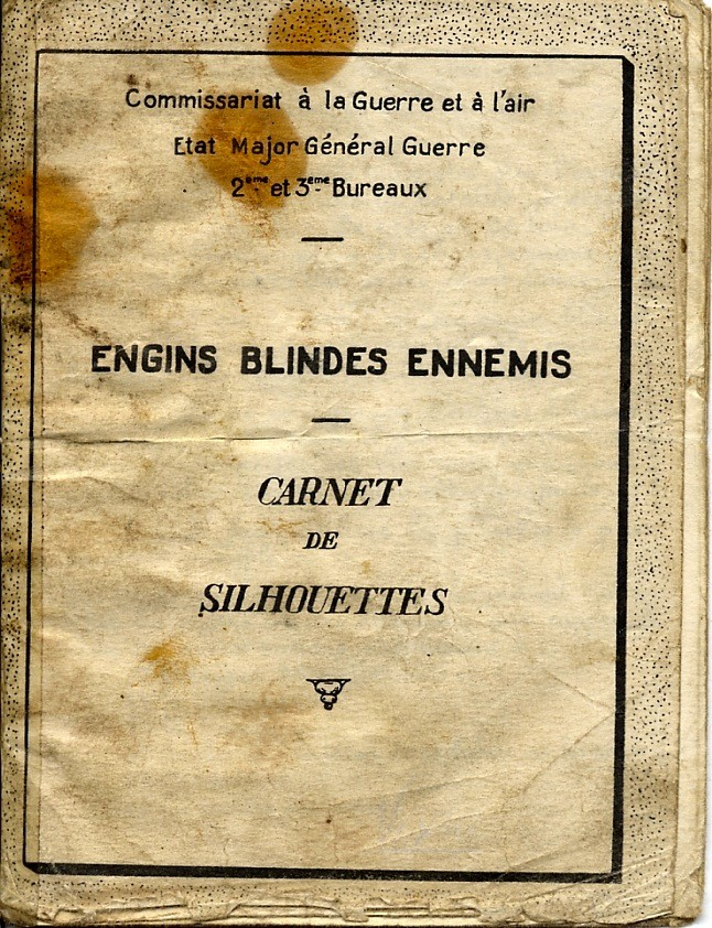 ENGINS BLINDÉS ENNEMIS carnet de silhouettes Engins10