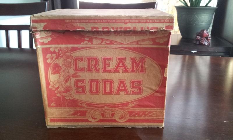 Boite en carton de cream sodas ROWELL SON & CO. 00211
