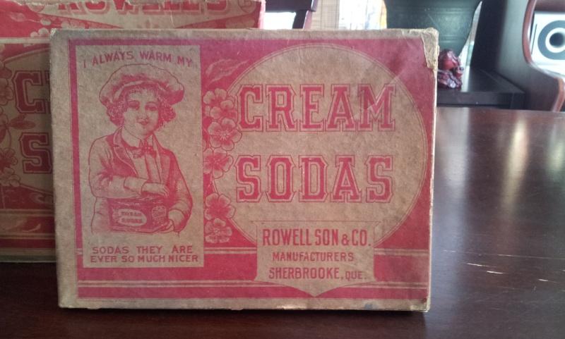 Boite en carton de cream sodas ROWELL SON & CO. 00310