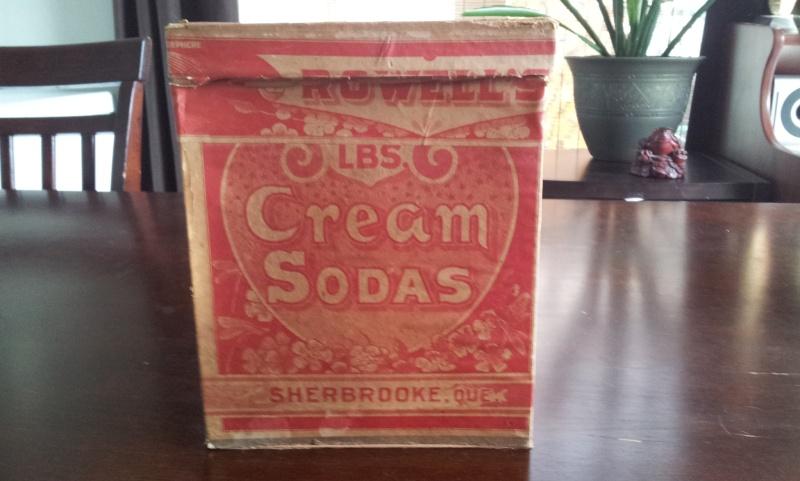 Boite en carton de cream sodas ROWELL SON & CO. 00510