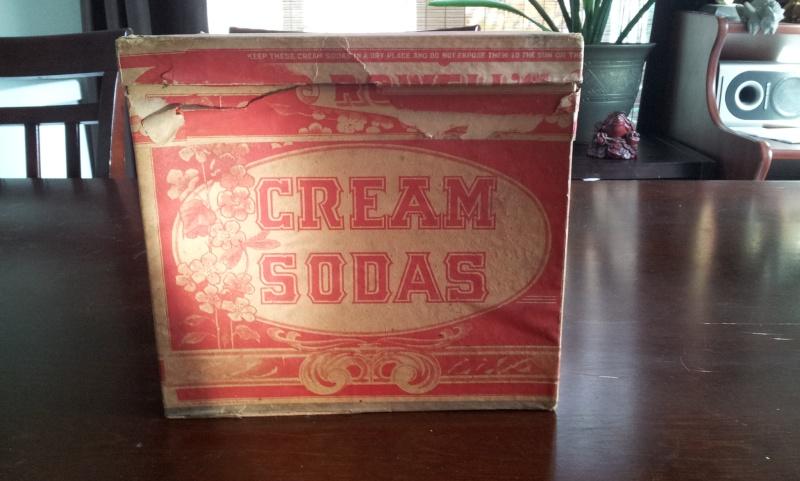Boite en carton de cream sodas ROWELL SON & CO. 00812