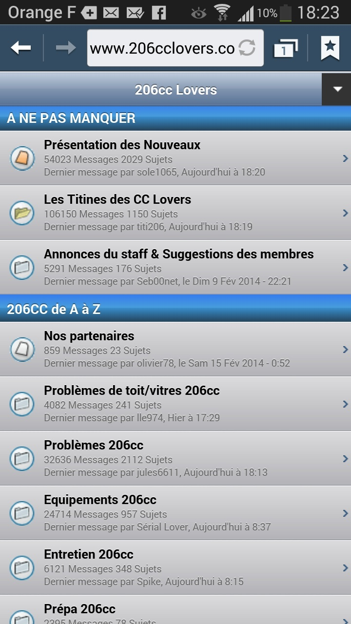 Naviguer sur le forum depuis un smartphone ou tablette Android ou iOs Screen10