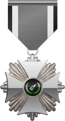 Silver level of the Silver Cross of the Silver Arrows - This award is given to a member who distinguished in a number of Community Events. Silver level is the second of six.