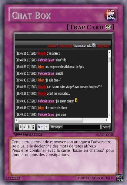 Tradings Cards version forum Create12