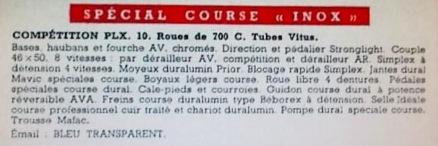Peugeot LX 10 1958 tubes Reynolds  2014-409