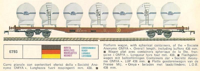 Le Wagon Plat avec chargement de 6 containers sphériques au 1:45 de Lima Plat_s11