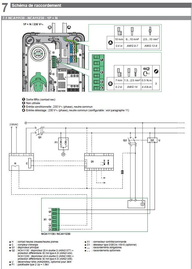 Bobine MNx obligatoire (EVLINK NCA11230) Cablag10