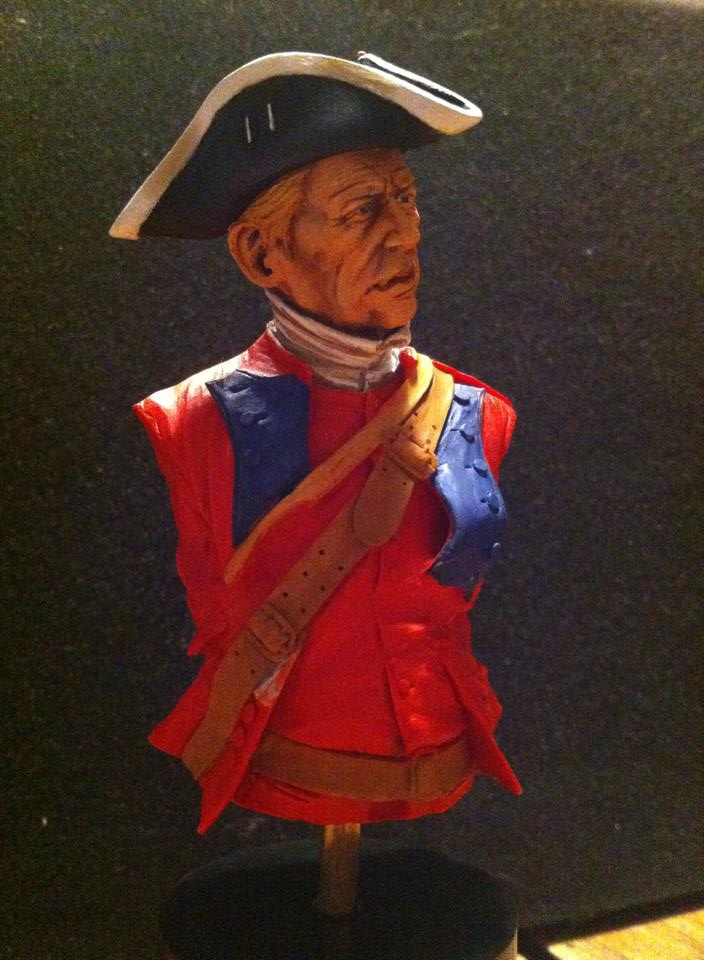 60th Royal American Rifle bust 1/10 par Carl Reid 112