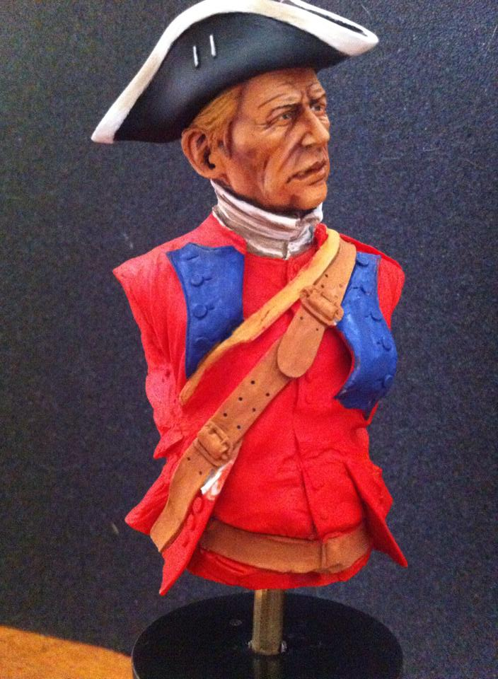 60th Royal American Rifle bust 1/10 par Carl Reid 60110