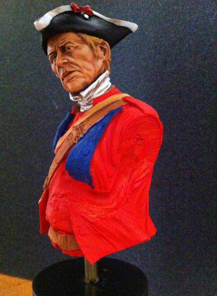 60th Royal American Rifle bust 1/10 par Carl Reid 60210
