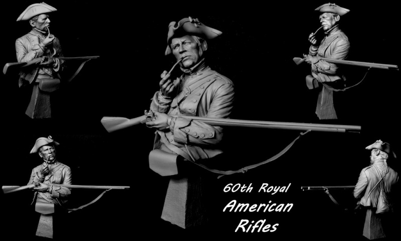 60th Royal American Rifle bust 1/10 par Carl Reid 60_th_10