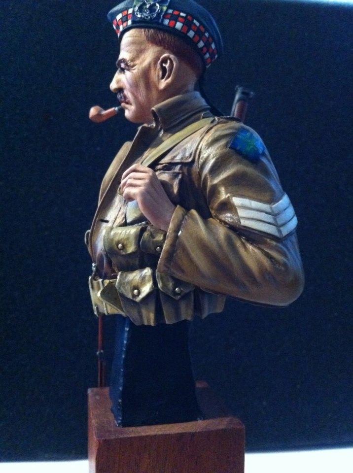 Sergeant at 1st Battalion Gordon Highlanders WW1  Fini110