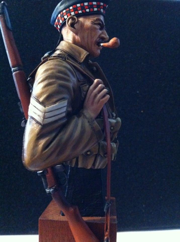 Sergeant at 1st Battalion Gordon Highlanders WW1  Fini210
