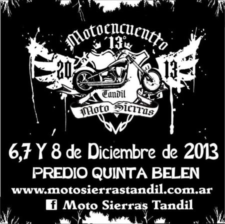 Motoencuentro de Tandil - 6, 7 y 8 de Diciembre 2013 Afiche10