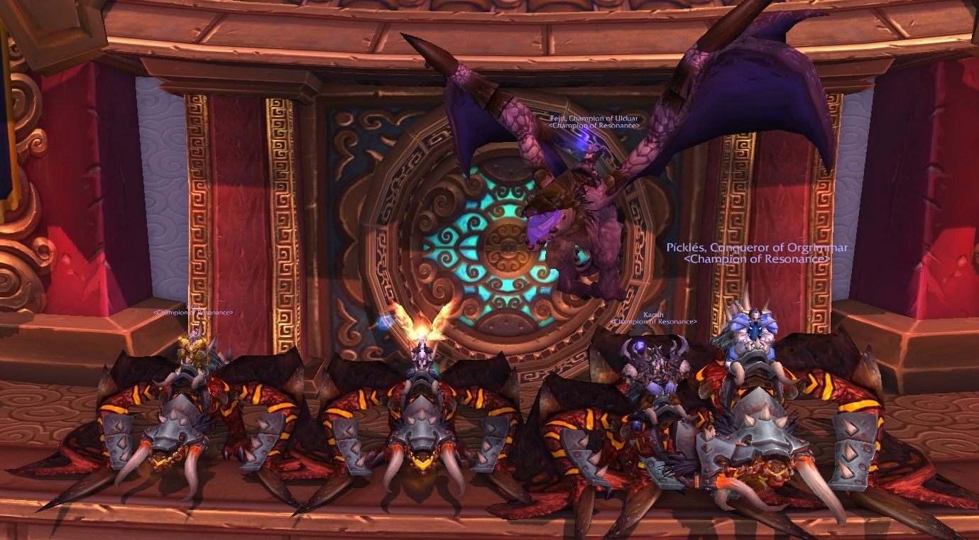 Glory of the Orgrimmar Raider (my previous post seems to have disappeared somehow)! Meta10