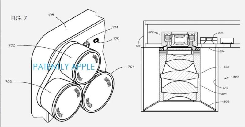 Les derniers brevets de Apple révèlent la possibilité d'ajouter des objectifs externes aux Iphone. Brevet11