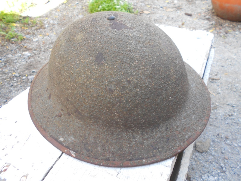 US WW1 reissue helmet with canadian connection 02810