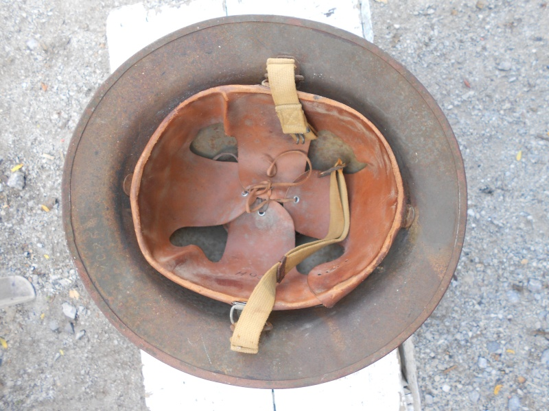 US WW1 reissue helmet with canadian connection 03010