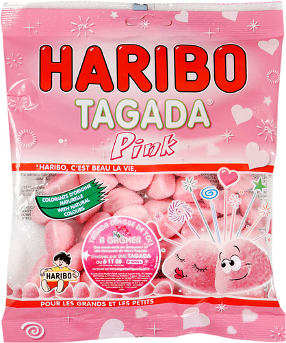 Joyeux anniversaire Bonbon Rose 00000010