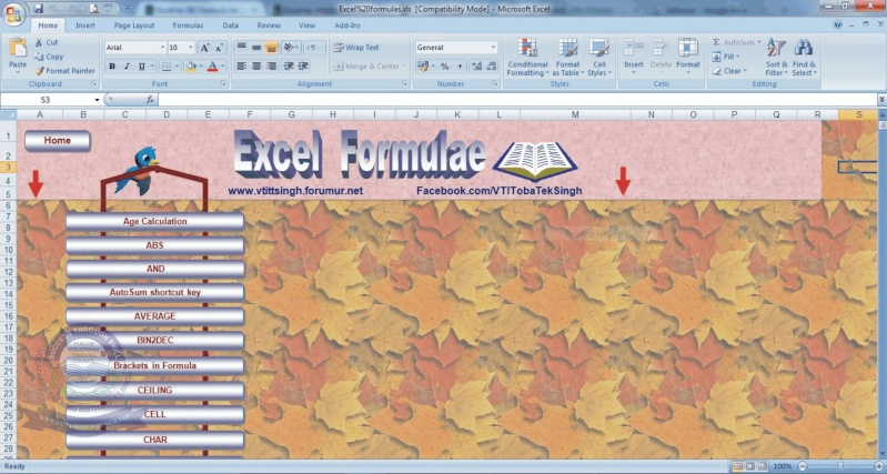 Excel 382 Farmula's in one Place 310
