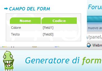 (Strumento) Pannello di creazione form Formul10