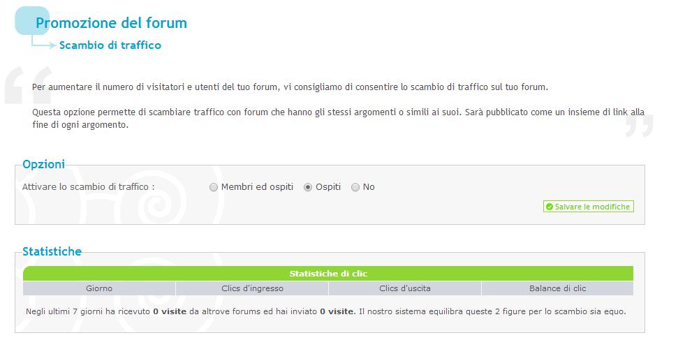 Come pubblicizzare il proprio forum Forumattivo Scambi10