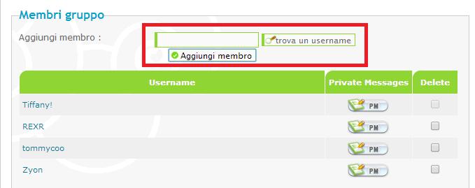 Cambiare il colore dei nomi utenti Screen16
