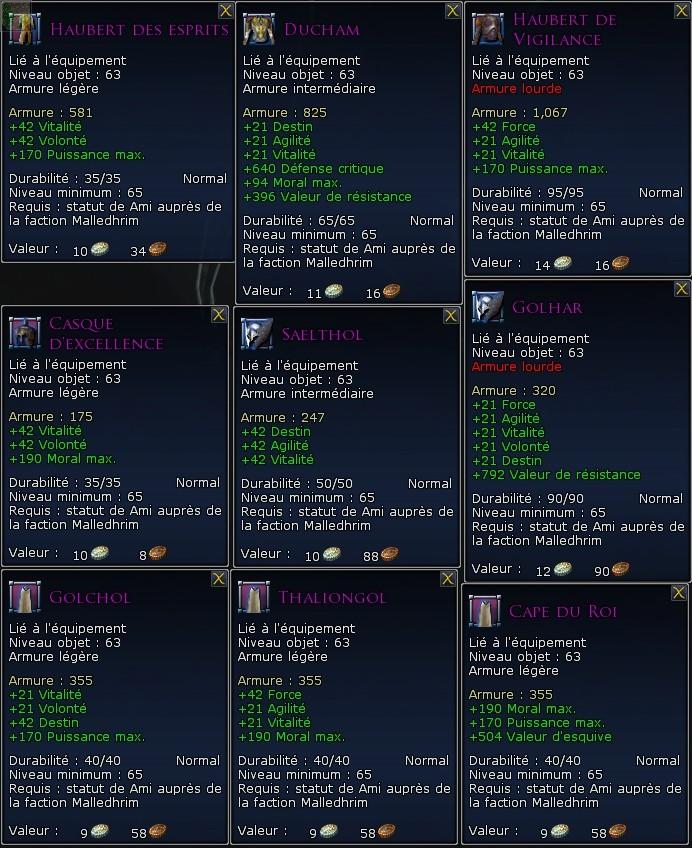Les factions de réputation Screen51