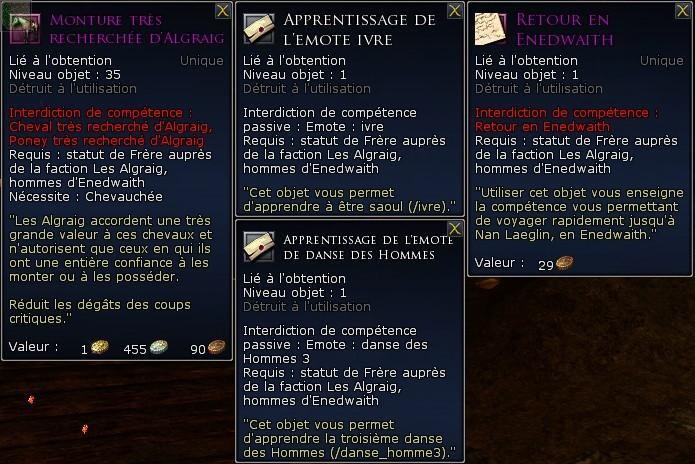 Les factions de réputation Screen54