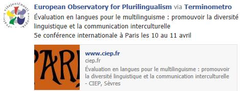 5e conférence internationale à Paris les 10 au 11 avril Temp1096