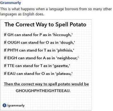English spelling (Joke) Temp1e10