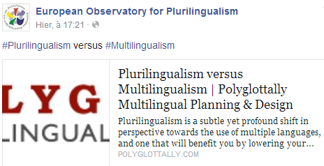 European Observatory for Plurilingualism Temp2291