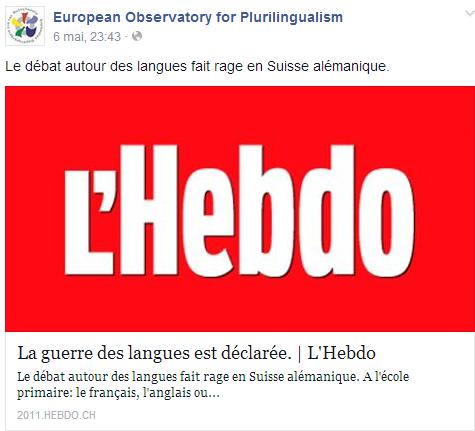 La guerre des langues est déclarée (en Suisse alémanique) Temp2349