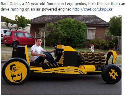 Full-size Lego car actually drives Temp345