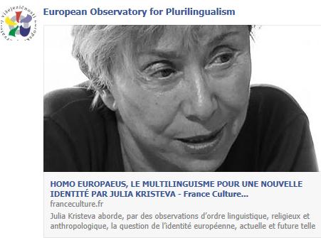 HOMO EUROPAEUS, LE MULTILINGUISME POUR UNE NOUVELLE IDENTITÉ PAR JULIA KRISTEVA Temp511