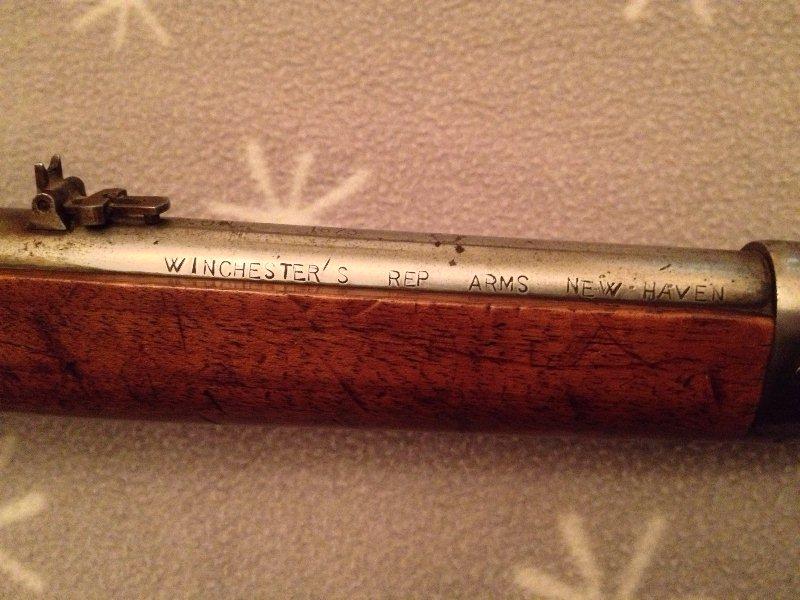 """Winchester """"Yellow Boy"""" Cal. 44 WCF ...... 1866 ou 1873...? 2110"""