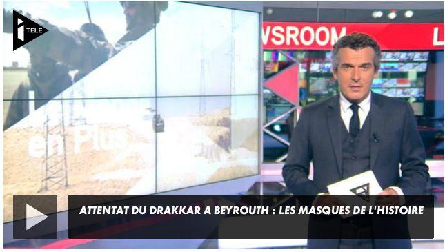 ITélé : commémoration du 30ème anniversaire de l'attentat Drakkar, sur les lieux mêmes de l'attaque Drakka10