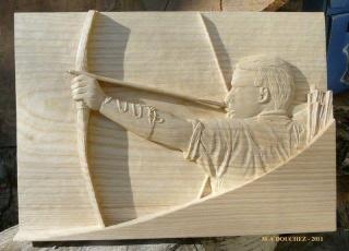 """mes premier pas """"bas relief archer"""" 9802_111"""
