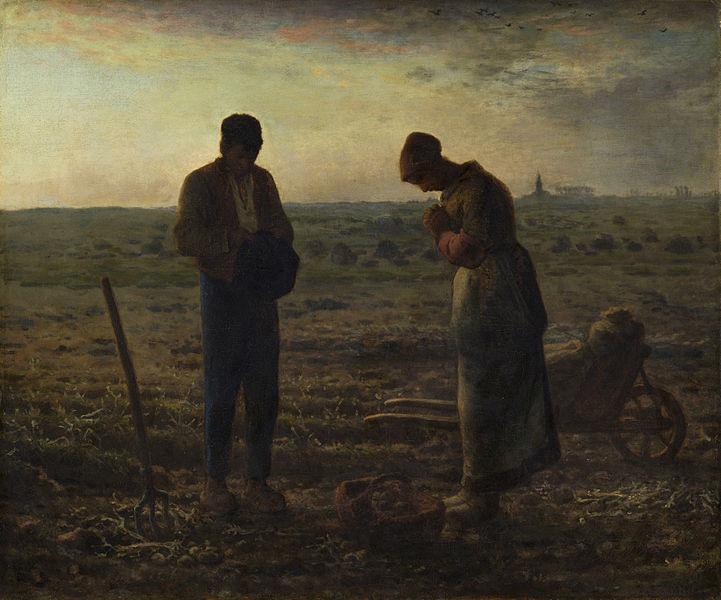 L'Angelus, Millet, 1857 Millet10