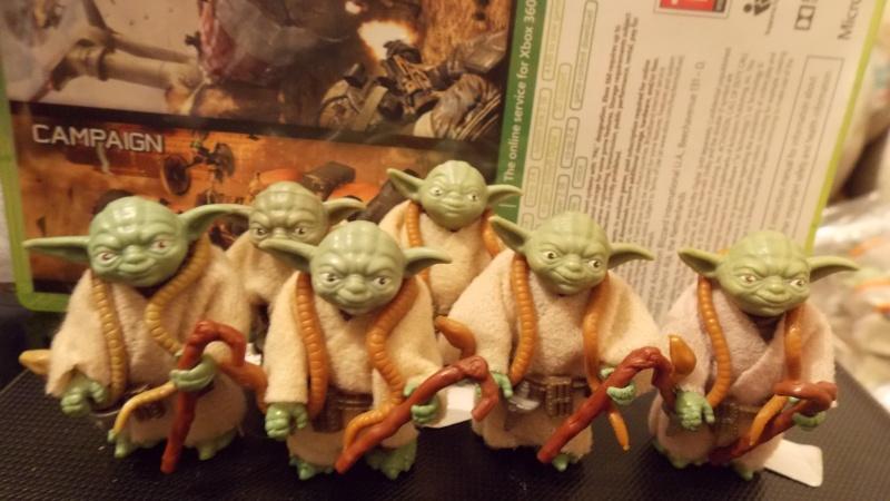 Meccano Yoda vs POTF Yoda 00627