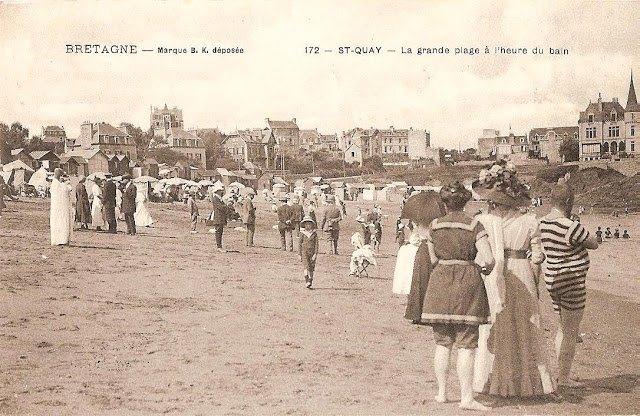 La plage de Saint-Quay en 1908 14577110