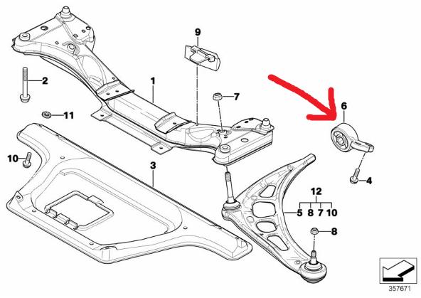 [ BMW e46 320 cd m47n an 2003 ] Silent bloc bras inferieur avant 53410