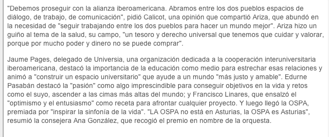 Premio Iberoamericano para la OSPA Captur12