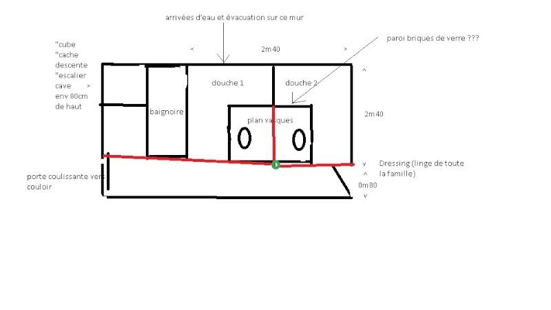 Deux salles d'eau en une, un projet fou pour petit budget ??? ENFIN LES PHOTOS !!!! Projet11