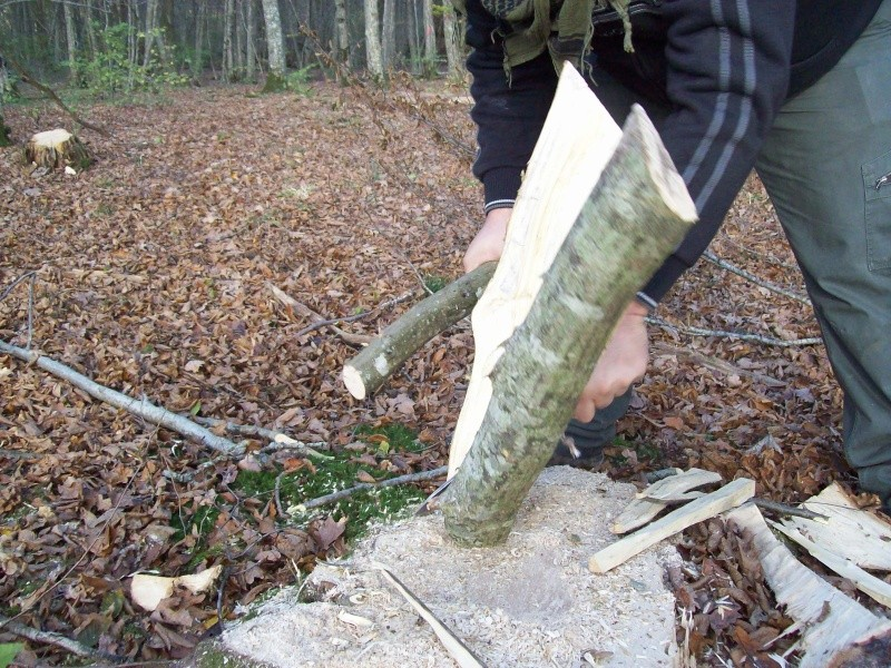 sortie automnale/ test de mon couteau de camp maison  100_2959