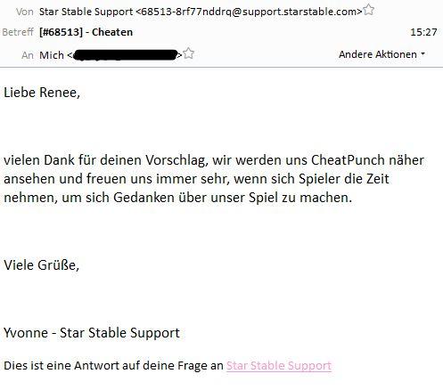 Mein Mailverkehr mit SSO-Support Unbena14