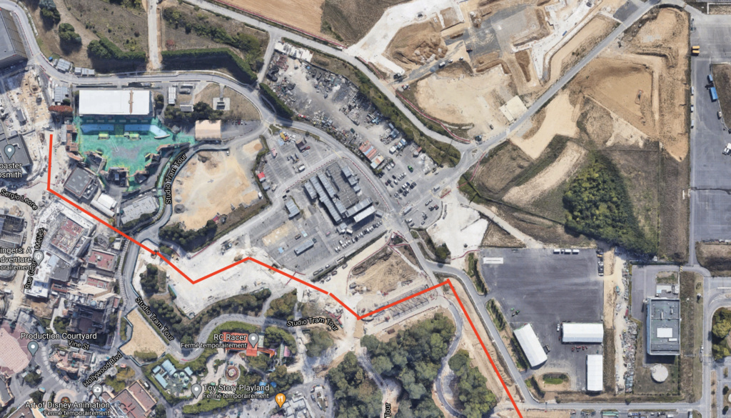 Extension du Parc Walt Disney Studios avec nouvelles zones autour d'un lac (2022-2025) Captur28