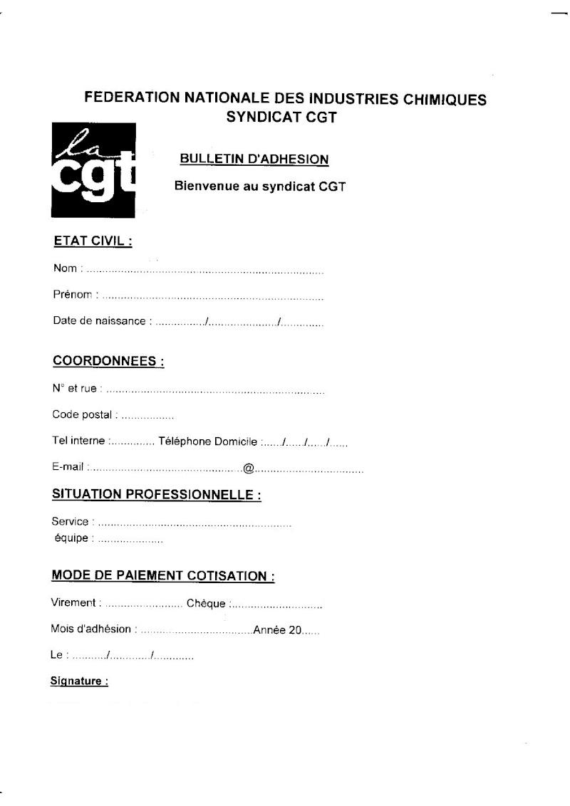 bulletin adhesion CGT  55290810