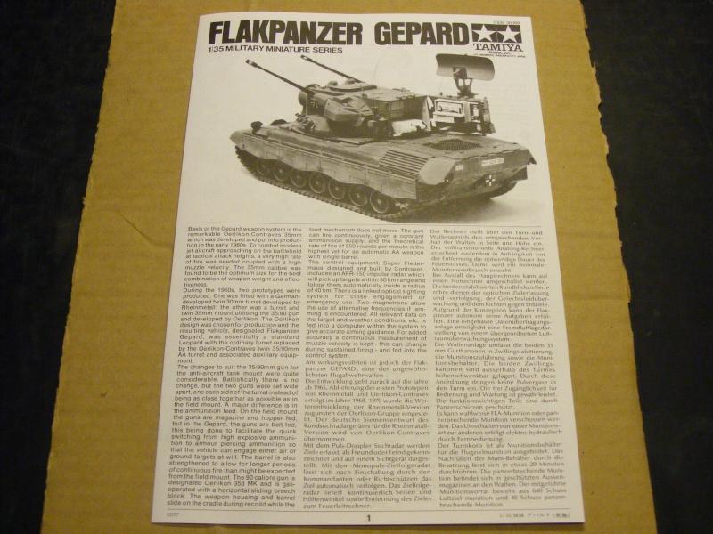 Flakpanzer GEPARD in 1:35 von TAMIYA Dscf1122