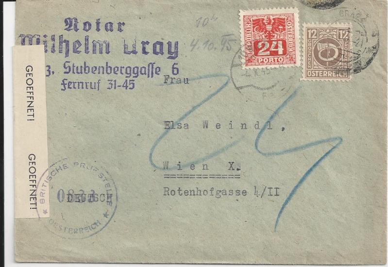 Posthornzeichnung  -  ANK 697-713  -  Belege Bild110